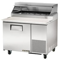 True TPP-44 44 inch Refrigerated Pizza Prep Table with Telescoping Hood