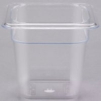 Cambro 86CW135 Camwear 1/8 Size Clear Food Pan - 6 inch Deep