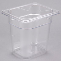 Cambro 86CW135 Camwear 1/8 Size Clear Polycarbonate Food Pan - 6 inch Deep