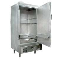 Town SM-30-R-SS Liquid Propane Indoor 30 inch Stainless Steel Smokehouse with Right Door Hinges - 60,000 BTU