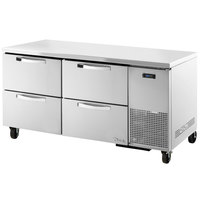 True TUC-67D-4~SPEC1 67 inch Spec Series Undercounter Refrigerator with Four Drawers