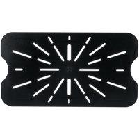 Full Size Black Polycarbonate Drain Shelf