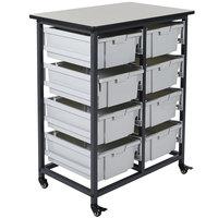 Luxor MBS-DR-8L Mobile Bin Storage Unit - 8 Large Bin Capacity