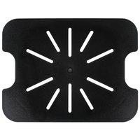 1/2 Size Black Polycarbonate Drain Shelf