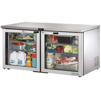 True TUC-60G-LP~SPEC1 60 inch Spec Series Low Profile Undercounter Refrigerator with Glass Doors