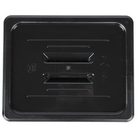 1/2 Size Black Polycarbonate Handled Lid