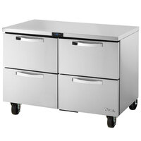 True TUC-48F-D-4-HC~SPEC1 48 inch Spec Series Undercounter Freezer with Four Drawers