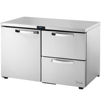 True TUC-48D-2-LP-HC~SPEC1 48 inch Spec Series Low Profile Undercounter Refrigerator with One Door and Two Drawers