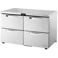True TUC-48D-4-LP-HC~SPEC1 48 inch Spec Series Low Profile Undercounter Refrigerator with Four Drawers