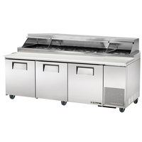True TPP-93 93 inch Refrigerated Pizza Prep Table with Telescoping Hood