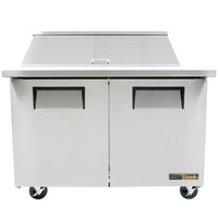 True TSSU-48-18M-B-ADA-HC 48 inch 2 Door Mega Top ADA Height Refrigerated Sandwich Prep Table