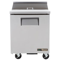 True TSSU-27-8-HC LH 27 inch 1 Left Hinged Door Refrigerated Sandwich Prep Table