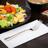 World Tableware 100 030 Baguette II 7 1/4 inch 18/8 Stainless Steel Extra Heavy Weight Dessert Fork - 36/Case