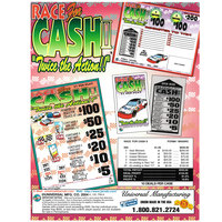Race for Cash II 1 Window Pull Tab Tickets - 659 Tickets Per Deal - Total Payout: $535