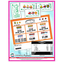 Double Action 1 Window Pull Tab Tickets - 3420 Tickets Per Deal - Total Payout: $556
