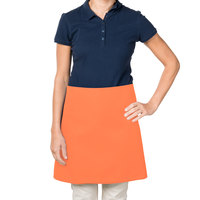 38 inch x 34 inch Orange Poly-Cotton Four Way Waist Apron