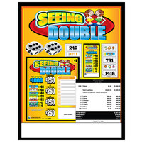 Seeing Double 5 Window Pull Tab Tickets - 1980 Tickets Per Deal - Total Payout: $1461