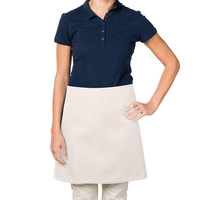 38 inch x 34 inch Ivory Poly-Cotton Four Way Waist Apron