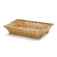 Tablecraft 1692 18 inch x 13 inch x 3 inch Natural Rectangular Willow Basket
