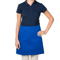 38 inch x 34 inch Blue Poly-Cotton Four Way Waist Apron
