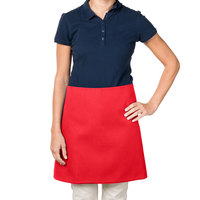 38 inch x 34 inch Red Poly-Cotton Four Way Waist Apron