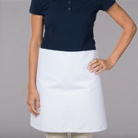 38 inch x 34 inch White Poly-Cotton Four Way Waist Apron