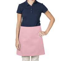 38 inch x 34 inch Mauve Poly-Cotton Four Way Waist Apron