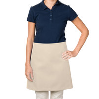 38 inch x 34 inch Beige Poly-Cotton Four Way Waist Apron