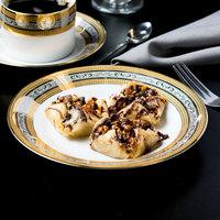 10 Strawberry Street ELE-4 Elegance 8 inch Porcelain Salad/Dessert Plate - 24/Case