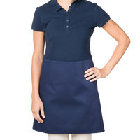 38 inch x 34 inch Navy Blue Poly-Cotton Four Way Waist Apron