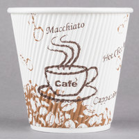 Choice 8 oz. Double Wall Bean Print Paper Hot Cup - 500/Case