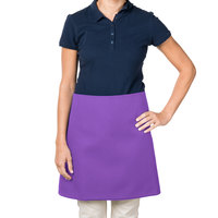 38 inch x 34 inch Purple Poly-Cotton Four Way Waist Apron