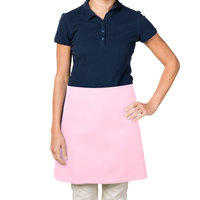 38 inch x 34 inch Pink Poly-Cotton Four Way Waist Apron