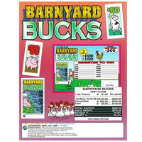 Barnyard Bucks 1 Window Pull Tab Tickets - 1125 Tickets Per Deal - Total Payout: $850