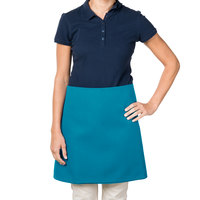 38 inch x 34 inch Teal Poly-Cotton Four Way Waist Apron