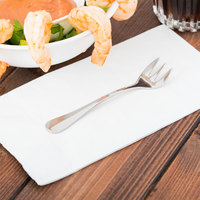 World Tableware 100 029 Baguette II 4 3/4 inch 18/8 Stainless Steel Extra Heavy Weight Cocktail Fork - 36/Case
