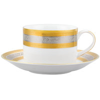 10 Strawberry Street ELE-9 Elegance 8 oz. Can Cup with Saucer   - 24/Case