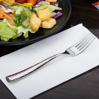 World Tableware 931 038 Chivalry 18/8 Extra Heavy Weight Stainless Steel 7 3/8 inch Dessert / Salad Fork - 12/Case