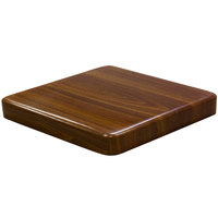American Tables & Seating ATR3030-W Resin Super Gloss 30 inch Square Table Top - Walnut