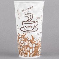 Choice 20 oz. Double Wall Bean Print Paper Hot Cup - 500/Case