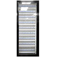 Styleline ML3079-NT MOD//Line 30 inch x 79 inch Modular Walk-In Cooler Merchandiser Door with Shelving - Satin Black Smooth, Right Hinge