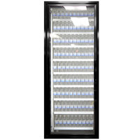 Styleline ML3075-NT MOD//Line 30 inch x 75 inch Modular Walk-In Cooler Merchandiser Door with Shelving - Satin Black Smooth, Left Hinge