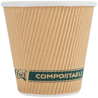 EcoChoice 8 oz. Sleeveless Kraft Compostable and Biodegradable Paper Hot Cup - 25/Pack