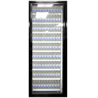 Styleline ML3075-NT MOD//Line 30 inch x 75 inch Modular Walk-In Cooler Merchandiser Door with Shelving - Satin Black Smooth, Right Hinge