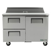 True TSSU-48-12D-2-HC 48 inch Salad / Sandwich Prep Refrigerator with 2 Drawers and 1 Door