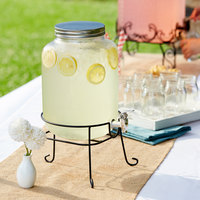 Acopa 2 Gallon Mason Jar Glass Beverage Dispenser