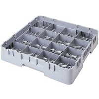 Cambro 16S1114151 Camrack 11 3/4 inch High Customizable Soft Gray 16 Compartment Glass Rack