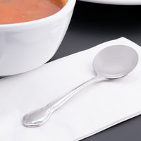 World Tableware 117 016 Lady Astor II 5 5/8 inch 18/8 Stainless Steel Extra Heavy Weight Bouillon Spoon - 36/Case