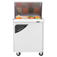 Turbo Air TST-28SD-12 28 inch 1 Door Mega Top Refrigerated Sandwich Prep Table