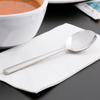 World Tableware 992 016 Cimarron 18/8 Extra Heavy Weight Stainless Steel 6 1/4 inch Bouillon Spoon - 36/Case
